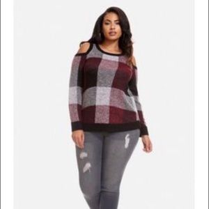 F2F Fashion to Figure patchwork sweater